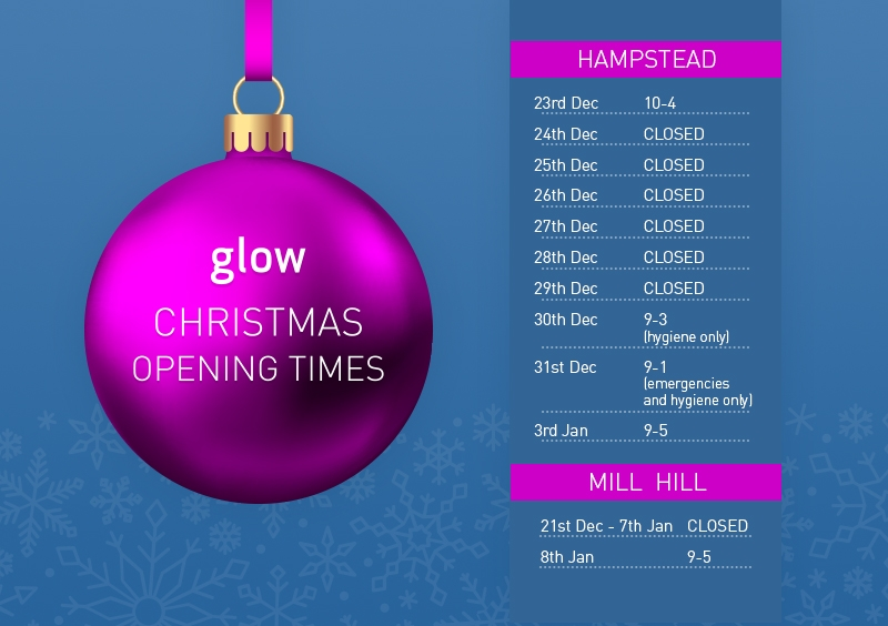 glow festive season opening times at both clinics